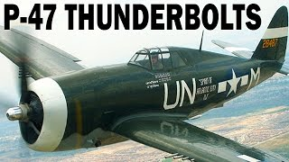 P-47 Thunderbolt Fighter Bombers Over Italy | WW2 Air War Combat Footage in Color | WW2 Documentary