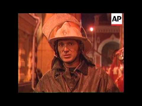 Russia - Merchant navy office block on fire