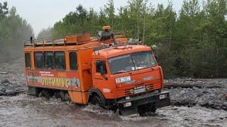 РУССКИЕ ВОЙНЫ БЕЗДОРОЖЬЯ - ГРУЗОВИКИ КАМАЗ ПО БЕЗДОРОЖЬЮ ПОДБОРКА(Легендарный русский грузовик КамАЗ буксует по бездорожью севера. Добро пожаловать на наш канал -