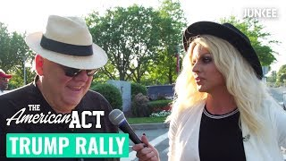 Courtney Act Goes To A Trump Rally