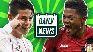 """James """"schwere"""" Verletzung, Leon Bailey plant seine Zukunft & AC Milan doch nicht pleite? Daily News"""