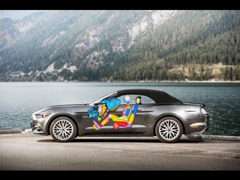 Ford Mustang: Weltweit erste Baureihe mit Beifahrer-Knie-Airbag im Handschuhfach
