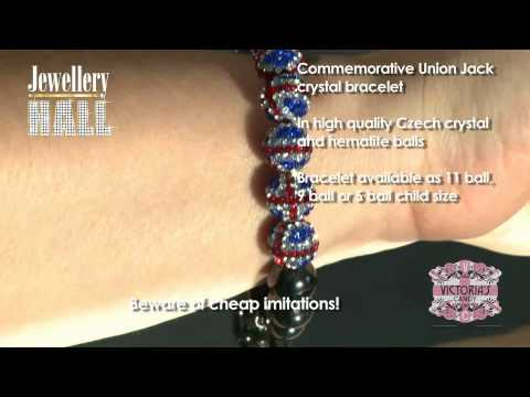 Union Jack Crystal Bracelet