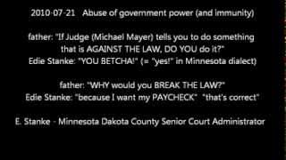 1 Will BREAK LAW for Contaminated Judge Michael Mayer