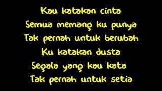 Repeat youtube video Alif Satar - Pendusta (lirik)