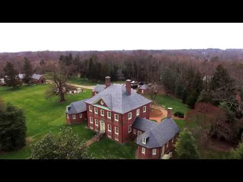 Flying Over Montpelier Mansion: Laurel, MD