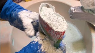 Sink Cleaning/Paste making/Multiple Sponge Play 💙💦