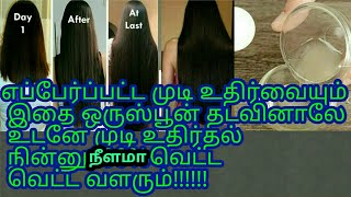 100%best Hair loss remedy in Tamil/long hair oil. easy way to get  long,black hair growth Tamil
