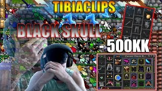 "ALOU BUGADO DROPOU TUDO ""500kk"" Black Skull e levou ban na twitch    #TibiaClips"
