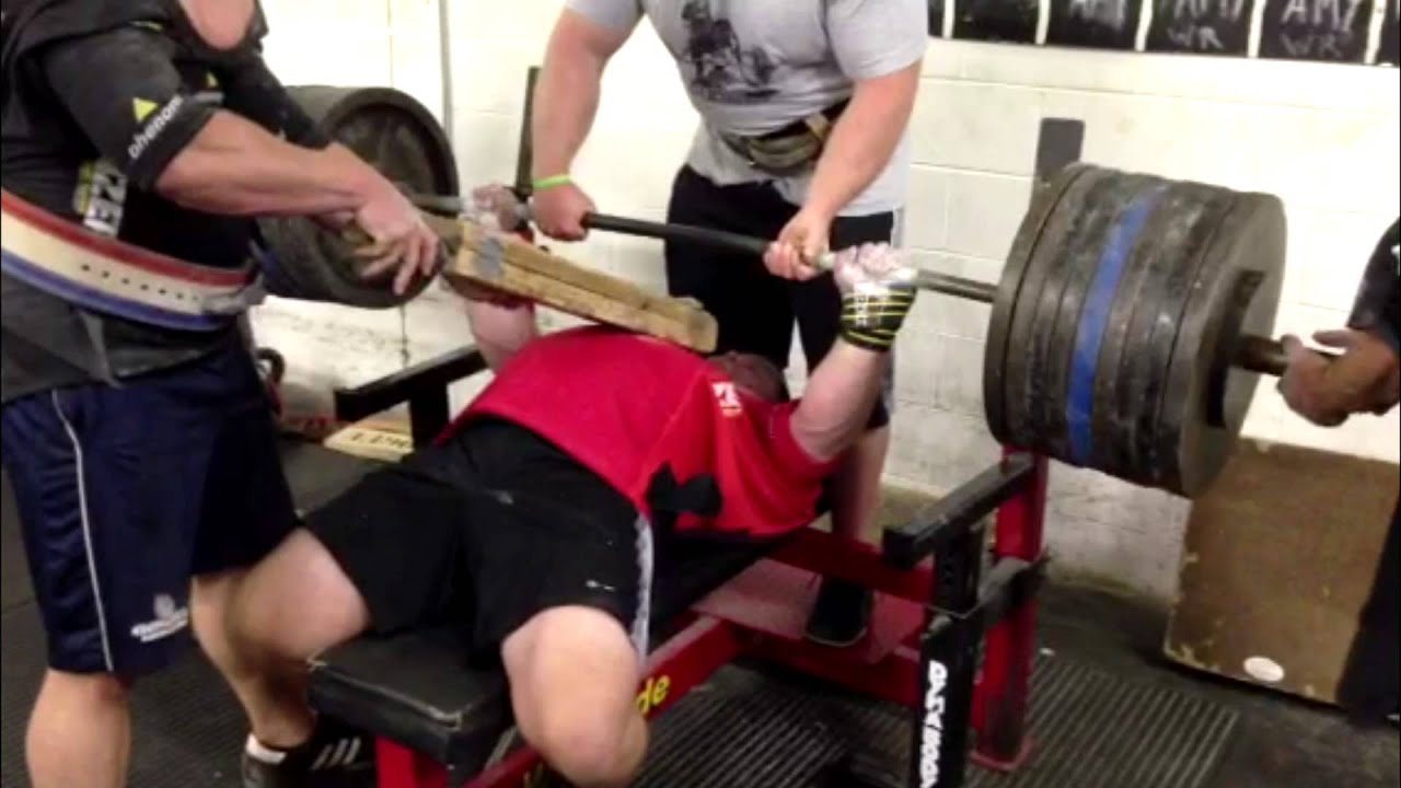 Dave Hoff Bench Press Meet Training 1010 Off Of A 2 Board