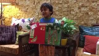 Ishaan Prathish 5 yrs old on coconut trees