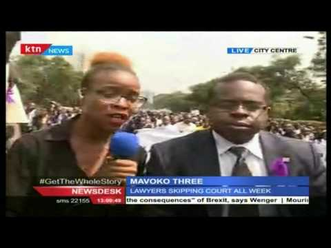 Lawyers hold country wide protests over the unlawful murder of Willie Kimani