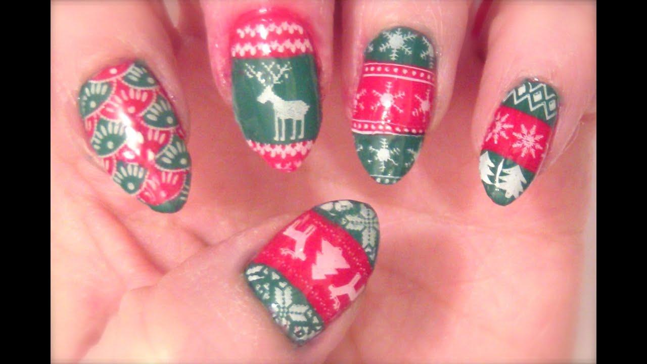 Stamp It Sunday Christmas Sweater Nail Art And Bornpretty Store