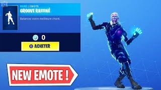 "NOUVELLE EMOTE ""GROOVE RAFFINÉ"" (NOUVELLE BOUTIQUE) ! Fortnite Battle Royale"