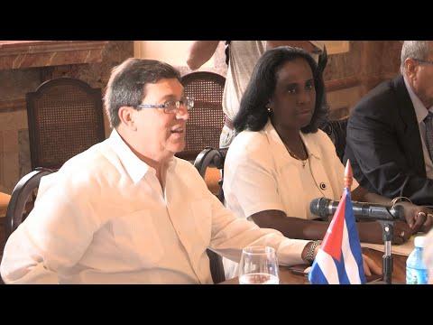 Cancilleres de México y Cuba dispuestos a intensificar relación bilateral
