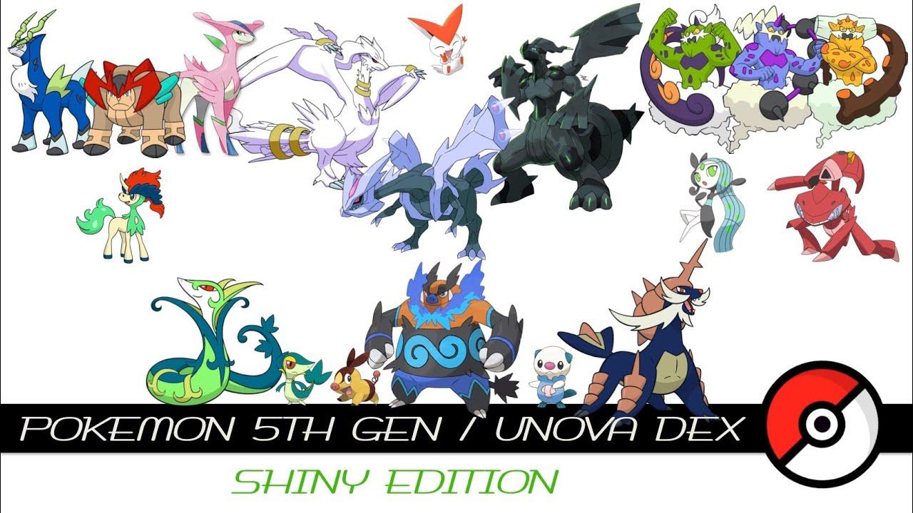 Pokemon 5th Gen / Unova Dex (Shiny) - YouTube