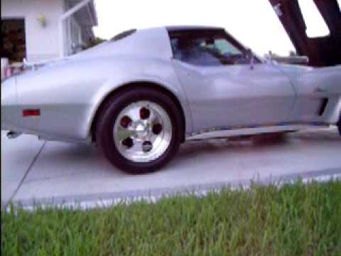 custom 1976 corvette stingray c3 blue flame alley studios