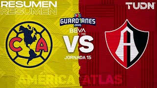 Resumen y goles | América vs Atlas | Guard1anes 2020 Liga BBVA MX - J15 | TUDN