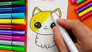 How To Draw Cute Kitten For Kids