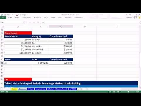 Highline Excel 2013 Class Video 18: VLOOKUP Function 20 Examples, VLOOKUP Formula, Excel VLOOKUP