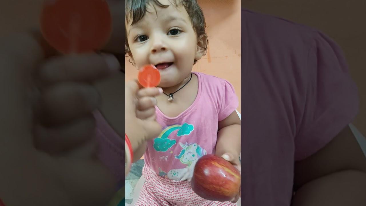 baby tooktook chooses lollipop or apple🍭 🍎 ?🤔 #shorts