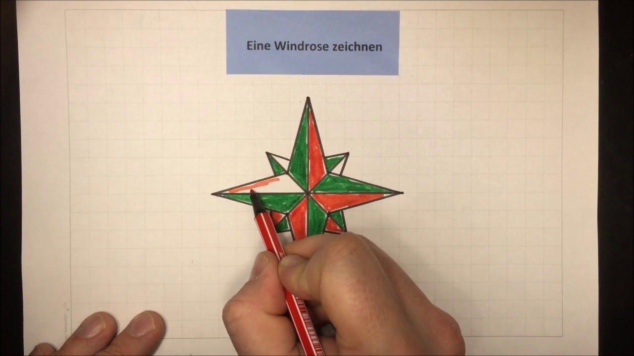 Windrose Zeichnen Sachunterricht Physik Lehrerschmidt Youtube