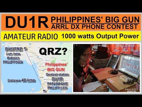 PHILIPPINES' BIG GUN In Ham Radio | DU1R Ramon Anquilan @1KW | ARRL Int'l  DX Phone Contest 2019