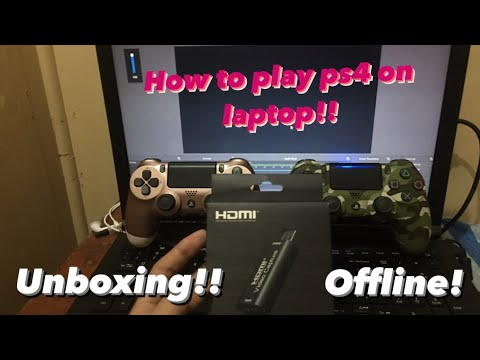 Unboxing hdmi capture card How to play ps4 on laptop On easily way!!