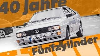 40 Jahre Fünfzylinder von Audi