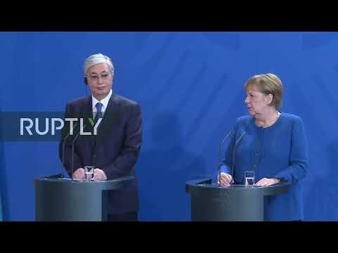 LIVE: Merkel receives Kazakh President Tokayev in Berlin