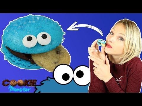 ♡•-recette-macarons-cookie-monster-•♡