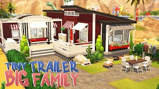 TINY TRAILER FOR A BIG FAMILY 💕 | The Sims 4 | Speed Build