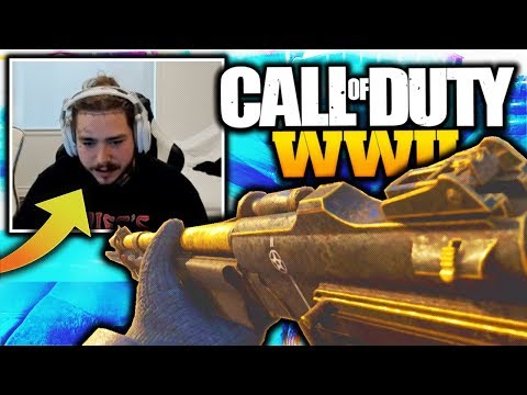 POST MALONE RAGING in Call of Duty WW2 😂 (Post Malone's Class Setup & Funny Moments)