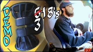Bass Cruise w/ EXO's 6 18's | 8 Logic F-31Hp Batteries w/ Crescendo PWX Speakers & FT1 Tweeters