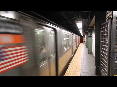 14th Street-bound R62 (3) train leaving Times Sqaure-42nd Street (IRT Broadway-7th Avenue Line)