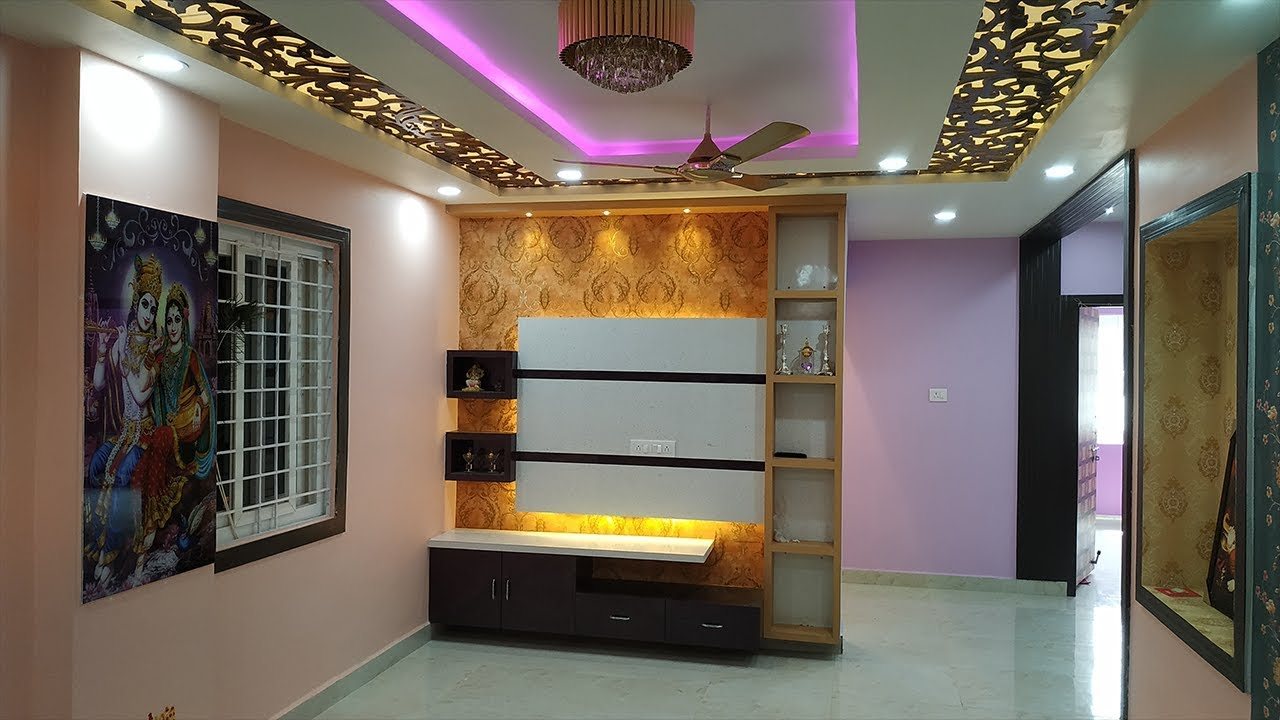 Interior Done 2 Bhk Flat In Hyderabad Kukatpally As Royal Decor Youtube