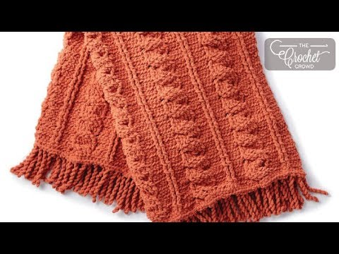 How to Crochet Bernat Blanket Cables Throw