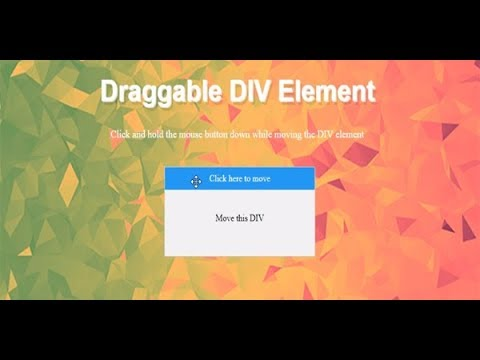 Draggable Div Element, Javascript Drag And Drop File Upload, Draggable  Jquery