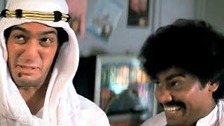Chunky Pandey, Johny Lever, Kiran Kumar, Tezaab - Scene 14/20 (k)