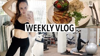 VLOG 1 | MY NEW DIET 2018! WORKOUT WITH MY TRAINER, FRIENDS + MOVING!