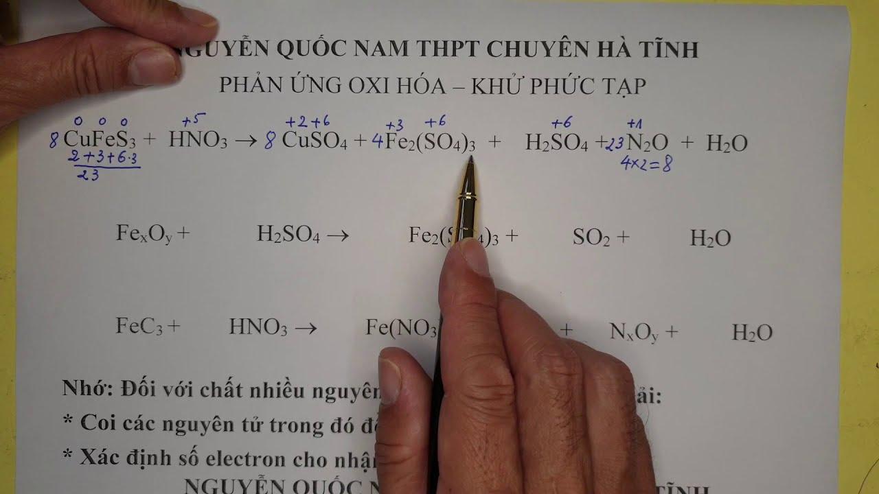 Cân bằng phản ứng oxi hóa khử siêu khó một cách hiệu quả