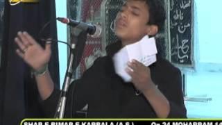 Tabish Sultanpuri | Shab-e-Bimar-e-Karbala | 24th Moharram 1437 | Asgharia Qadeem Amhat Sultanpur