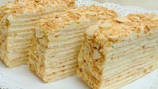 Торт Наполеон самый простой и очень вкусный рецепт от Irina ja рекомендую приготовить