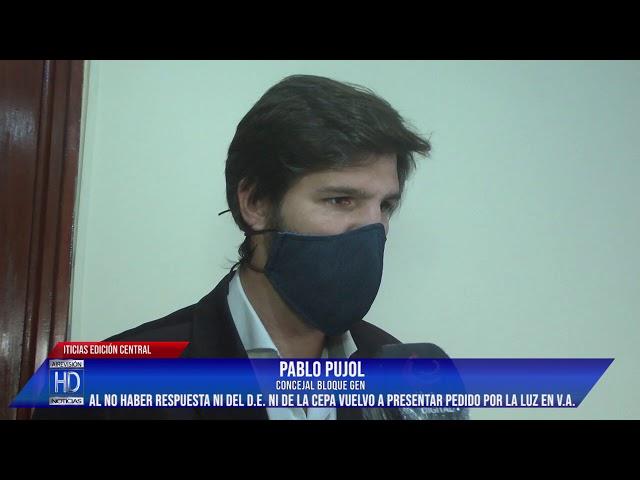 Pujol Reiteramos el pedido por los problemas de luz en Villa Arias