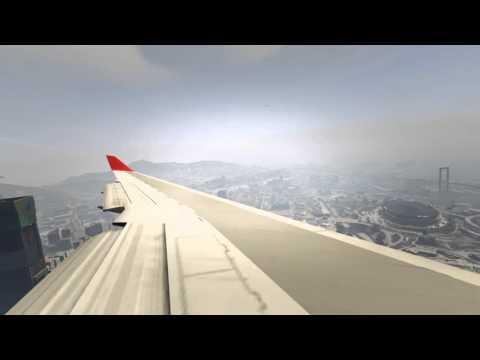 GTA V - FlyUS 747 landing LSX
