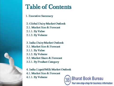 Bharat Book Presents : India Dairy Products Market Forecast & Opportunities, 2018