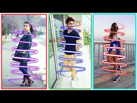 Neon Spiral Effect | Picsart Editing Tutorial 2019 | PicsArt Neon Effect