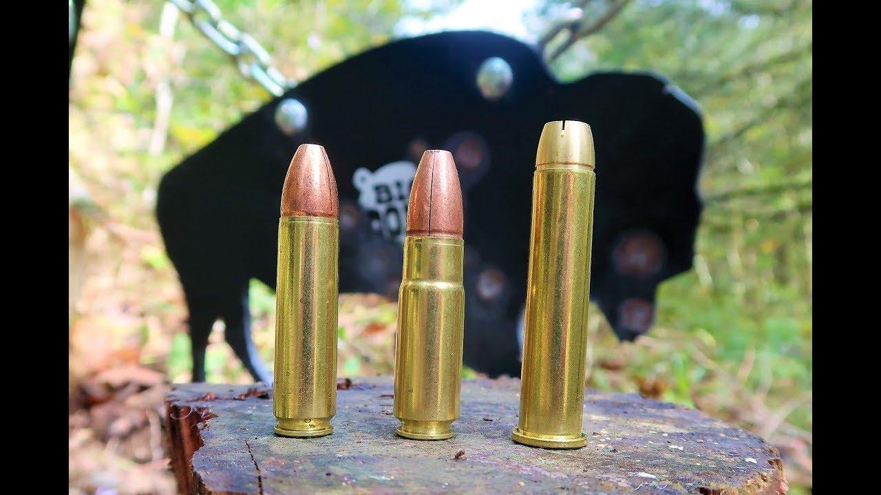 4570 VS 450 Bushmaster VS 458 Socom - Shooting Steel - Big Dong Targets