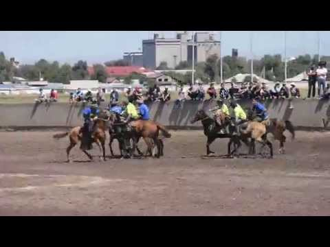 Kyrgyzstan's national sports Horseback Rugby