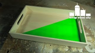 DIY serving tray with the cnc